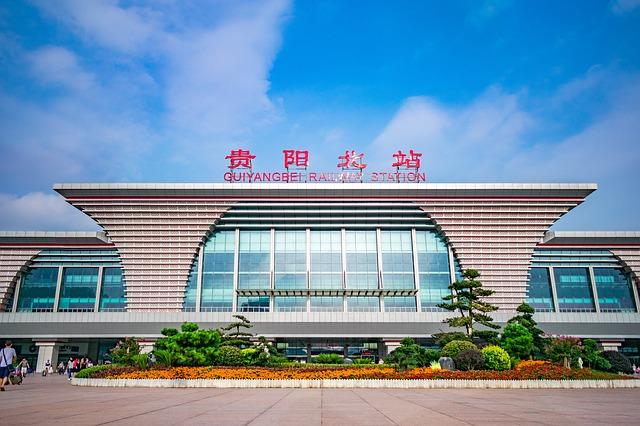 Vlakové nádraží Čína