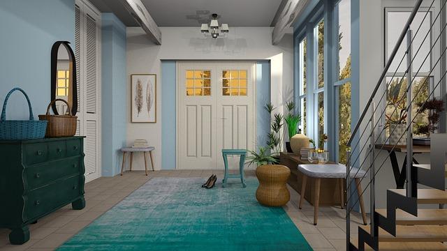 koberec v chodbě